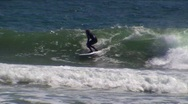 Surfer gets air at Rincon Stock Footage