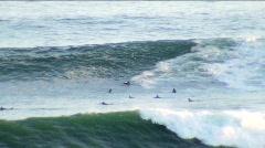 Big waves at Corona Del Mar Stock Footage