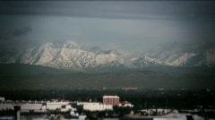 Winter Long Beach-01-various shots toward mountains Stock Footage