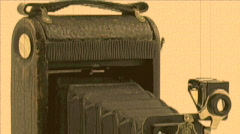 Old Camera Aged Film Stock Footage