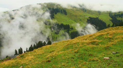 In The Alps 10 Hahnenkamm Top Pans Stock Footage
