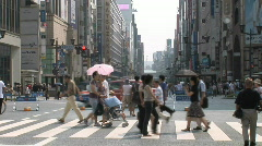 Ginza 8 -Tokyo, Japan Stock Footage