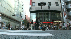 Ginza 10 - Tokyo, Japan Stock Footage