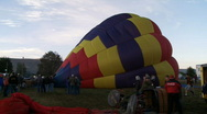 Hot Air Balloons Being Inflated Stock Footage
