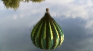 Hot Air Balloon Reflection in Water Stock Footage