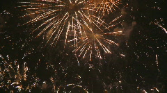 Fireworks in the sky - stock footage