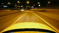 night driving  - stock footage