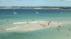 Porthminster beach St. Ives sand bank. Stock Footage