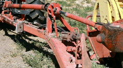 Tractor swather driveline start P HD 0858 Stock Footage