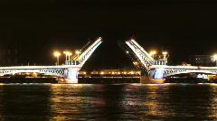 Saint Petersburg bridges 4-1 Stock Footage