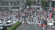 Stock Video Footage of Tokyo Shibuya Crossing 8 - Zoom In - Day Scene