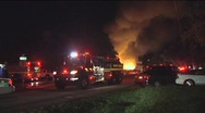Tanker Truck/ Water Tender at House Fire Stock Footage