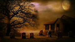 Halloween House Background Stock Footage