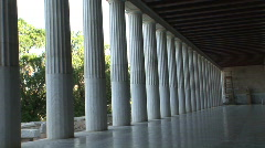 Stoa Columns in Agora Museum - 7 - stock footage