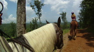 Stock Video Footage of Horseback in the Mountains