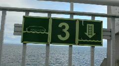 life raft sign - stock footage