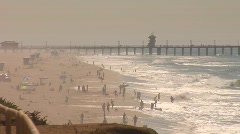 HB PIER PAN - stock footage