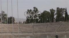Panathenaic Stadium Athens Greece Stock Footage