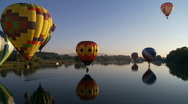 Hot Air Balloons Stock Footage