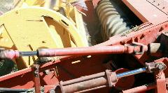 Farm equipment swather stop work P HD 0852 Stock Footage