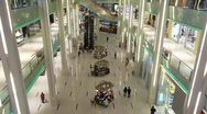 Stock Video Footage of Shopping Mall Crowd