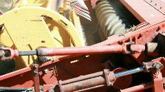 Farm swather turning P HD 0852 Stock Footage