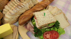 Breads With Sandwich Stock Footage