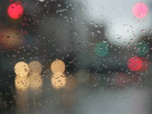 Rainy day. Traffic passes.SD. Stock Footage