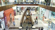 Stock Video Footage of Shoppers at Shopping Mall