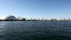 Sailing Long Beach Harbor Stock Footage