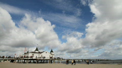 Ahlbeck - Pier Stock Footage