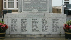 Tilt up WW1 memorial Stock Footage
