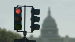 Capitol Traffic Light Cycle Stock Footage