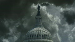 US Capitol Storm Stock Footage