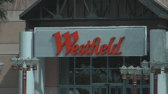 WESTFIELD MALL SIGN - stock footage