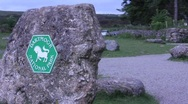 Stock Video Footage of Dartmoor sign