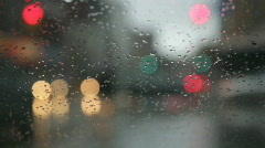Rainy day. Traffic passes. Stock Footage