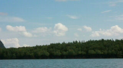 Boat Ride through Phang Nga Bay Stock Footage