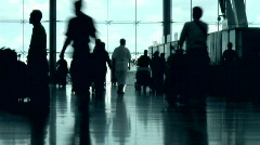 Airport People Stock Footage
