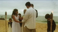Beach Wedding Vows Stock Footage