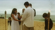 Stock Video Footage of Beach Wedding Vows
