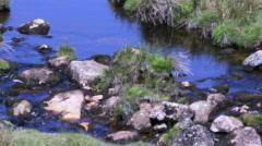 Pan river to rock pool Stock Footage