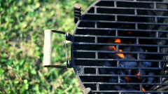 Burning grill Stock Footage