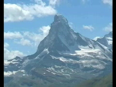 Stock Video Footage of time lapse clip: Matterhorn