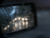 Side mirror with sound of rain. SD. Stock Footage