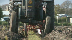 Vintage Lanz tractor and plough Stock Footage