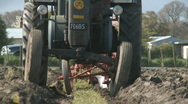 Stock Video Footage of vintage Lanz tractor and plough