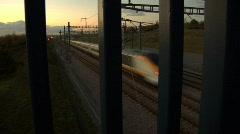 Eurostar Train 02 with sound Stock Footage