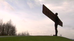 Angel Of The North to scale 01 Stock Footage