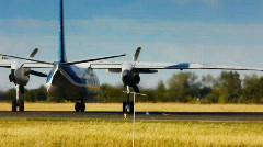 Airplane taxiing 3 Stock Footage
